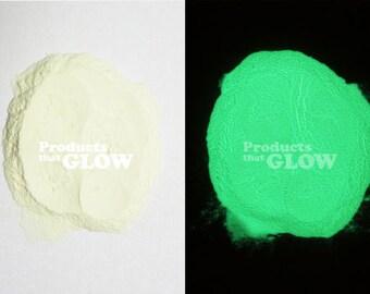 Green Neon Glow In The Dark Powder Pigment Waterproof Strontium Aluminate Encapsulated Europium Nails Art Water Paint Jewelry