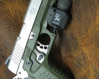 Recover Tactical CC3 H 1911 Grips & Rail System green new updated version.