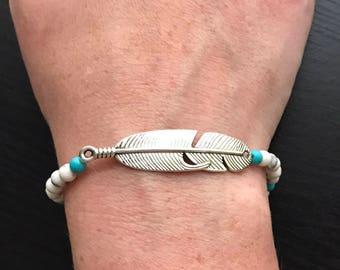 Beaded Feather Bracelet