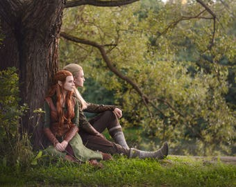 The Hobbit Legols and Tauriel cosplay print