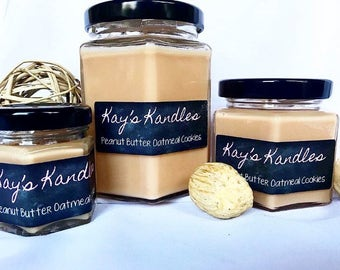Peanut Butter Oatmeal Cookie - Pure Soy Candle Scented