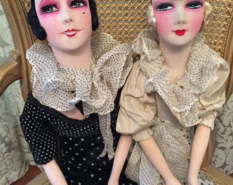 French Pierrette  Boudoir Doll Dolls The sisters All original!