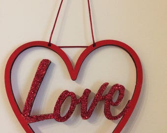 Hanging love heart