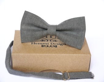 Dark Grey Bow Tie, Pocket Square, NeckTie / Boy's Bow Ties / Men's Bow Tie / Tie For Men / Suited Pocket Square Boy's / Groomsmen Pack