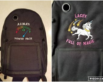 Personalized Feeding Tube Backpack