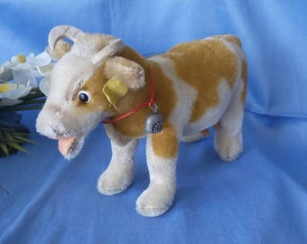 Reduced **** Vintage Steiff cow Bessy, 17 cm, Button