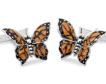 Silver Butterfly Cufflinks