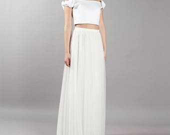 Long tulle skirt - bride bridal wedding - registry office