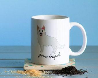 German Shepherd Mug (white - girl)
