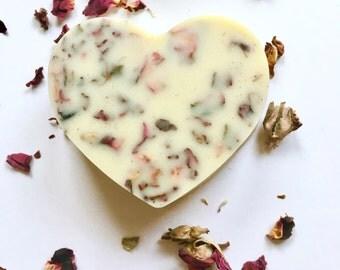 ROSE LOTION BAR | Organic Rose Lotion Bar | Solid Lotion | Organic Lotion Bar | Organic Massage Bar | Vegan Massage Bar| Vegan Lotion Bar