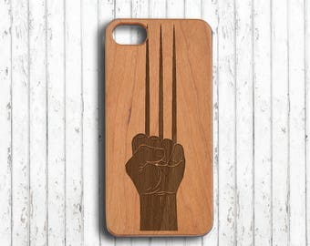 wolverine  Iphone 6 plus case iphone 6 case wood iphone 7 cover  iphone 6s case gift for her iphone se case iphone 5 case her gift