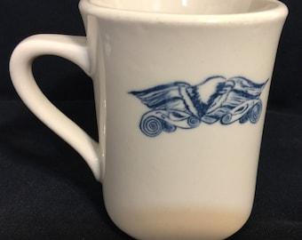 Vintage Syracuse china Coffee Mug Cup W/ Eagle Print.