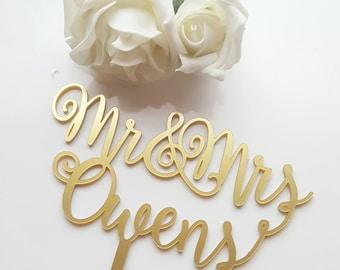 Wedding Cake Topper, Cake Topper, Personalised Cake Topper