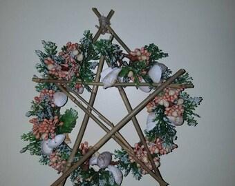 Bamboo & Shells Pentacle Wreath