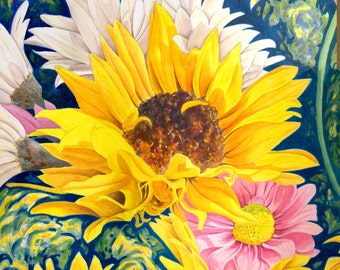 "Sunflower Digital Download 12"" Size"