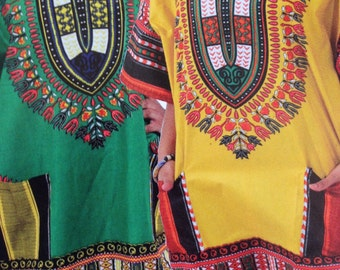 Traditional Print Dashiki in assorted colors, with a stand- out Design, 100% Cotton, Sizes: Small, Medium, Large 1x, 2x. in all colors...