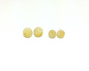 Gold Ball Earrings, Gold Ball Studs, Ball Studs, Ball Earrings, Resin Ball Earrings, Resin Ball Studs, Resin Earrings, Resin Studs, Jewelry