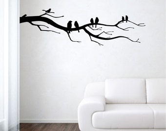 Branch Tree wall decal vinyl sticker wall art mural available in 12 different sizes and 30 different colors