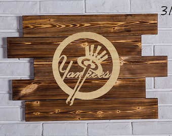 New York Yankees Wood Sign New York Yankees Wall art New York Yankees Gift New York Yankees Birthday New York Yankees Party wooden
