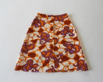 60's Rosenberg Skirt Flower Power Swinging London