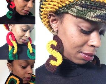 Empress Earrings - Handmade Crochet Earrings - Many Styles & Colors