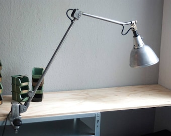 Big old clamp lamp table lamp table lamp steel optics Midgard 114 Curt Fischer old jointed task table edge lamp