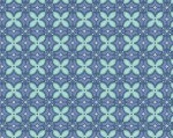 1 Yard Sew it - Quilt it by Amy Hamberlin of Kati cupcake pattern for Henry Glass and Co., beautiful lavender blue with aqua flowers 6666 11