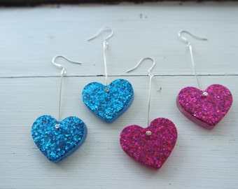 30% OFF - Drop Glitter Hearts