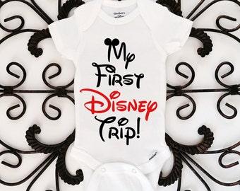 My First Disney Trip Onesie, Disney Onesie, Mickey Mouse,