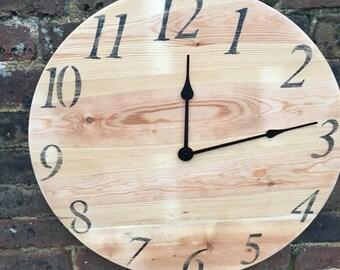 Vintage old pine clock