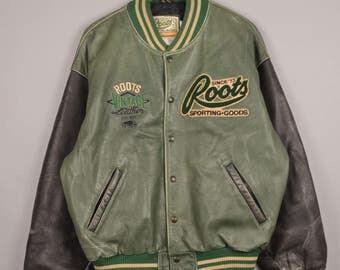 vintage canada roots jacket, avirex baseball jacket, vintage leather jacket, vintage bomber jacket, vintage varsity jacket,b-1 bomber jacket