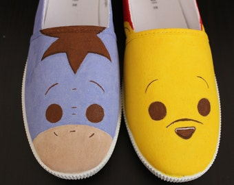Winnie the Pooh Hand-Painted Canvas Shoes