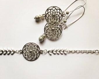 Ornament Silver Rosette