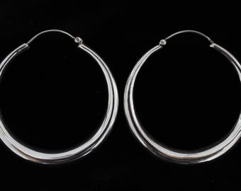 Sterling silver big earrings.Big hoops.Tribal hoops.Sterling silver hoops.Big sterling silver hoops.Boho silver 925 big hoops.Unique earring