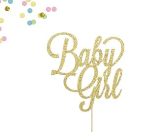 Baby Girl Cake Topper | Baby Shower Cake Topper | Gender Reveal | Girl Baby Shower Cake Topper | It's A Girl | Welcome Baby Girl Cake Topper