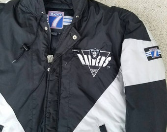 Vintage 90s Los Angeles / Oakland Raiders Jacket by Logo 7 | Retro NFL VTG | Adult Medium | TUFF