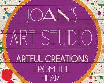 Custom Art Studio Sign Digital Download