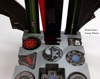 X-Wing Token Holder, Maneuver Template and Range Ruler Stand