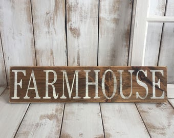 Farmhouse Sign | Wood Sign | Rustic Wooden Sign | Home Décor
