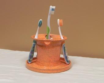 Toothbrush Holder, Pottery Toothbrush Holder, Bathroom Storage, Handmade Pottery, Kids Toothbrush Holder, Bathroom Organizer