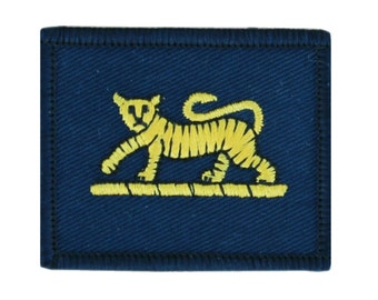 PWRR Yellow Tiger on Blue - TRF - Badge TF78