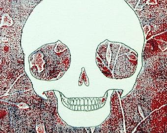 Pullip Skulls! #DeadPullipSociety series, original pop-art, relief/monoprint in oil and acrylic on canvas. Pullip Doll Skulls...