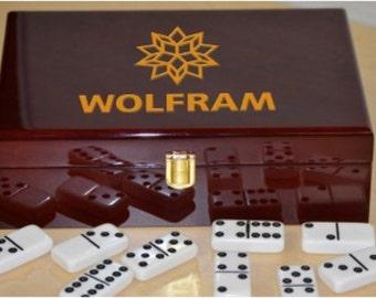 Customizable Double 9 Piano Finish Wooden Box