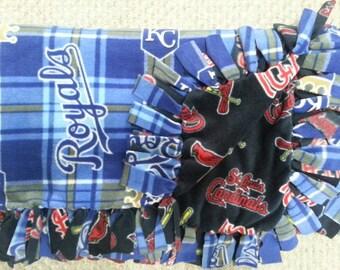 St. Louis Cardinals & Kansas City Royals Fleece Blanket