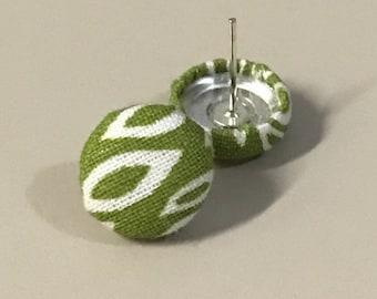 Fabric button earrings!