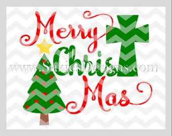 Merry Christmas SVG, DXF, PNG Files for Cricut and Silhouette cutting machines Christmas svg designs, Merry Christ Mas svg, Jesus svg