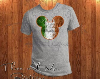 Irish Flag Inspired Mouse Ears; Mickey Mouse Inspired Ireland Ears