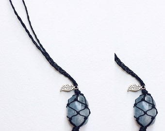 Celestite Hemp Necklace