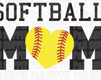 Softball Mom SVG, DXF - Digital Cut file for Cricut or Silhouette svg, dxf