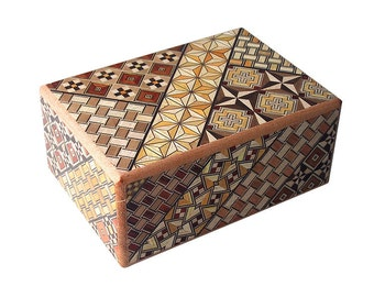 10 Step Japanese Puzzle Box Secret Yosegi Hakone 4 Sun Trick Opening Crafted M